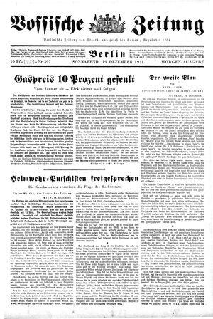 Vossische Zeitung vom 19.12.1931