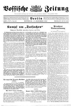 Vossische Zeitung vom 23.12.1931