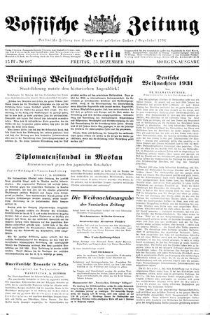 Vossische Zeitung vom 25.12.1931