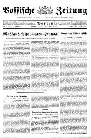 Vossische Zeitung vom 27.12.1931