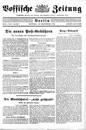 Vossische Zeitung vom 28.12.1931