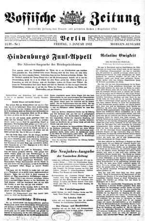 Vossische Zeitung vom 01.01.1932