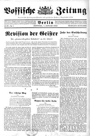 Vossische Zeitung vom 01.01.1933