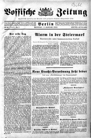 Vossische Zeitung on Jan 2, 1933
