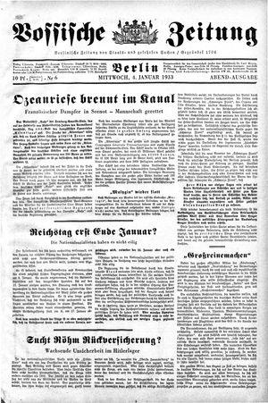 Vossische Zeitung vom 04.01.1933