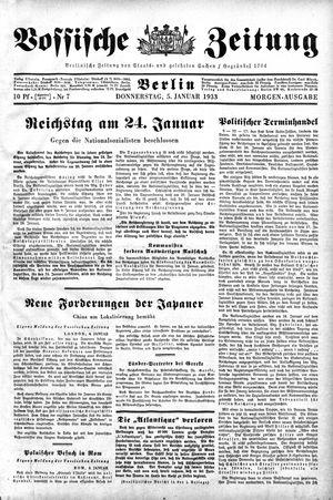 Vossische Zeitung vom 05.01.1933