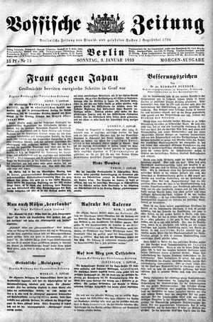 Vossische Zeitung vom 08.01.1933