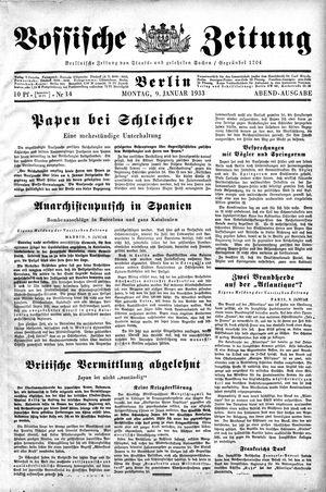 Vossische Zeitung vom 09.01.1933