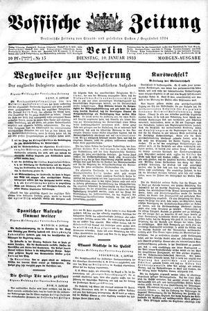 Vossische Zeitung vom 10.01.1933