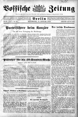 Vossische Zeitung vom 11.01.1933