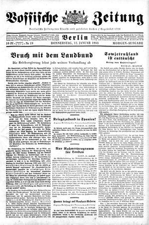 Vossische Zeitung vom 12.01.1933