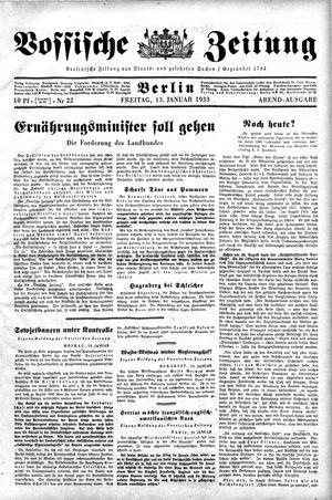 Vossische Zeitung vom 13.01.1933