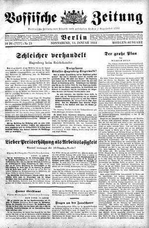 Vossische Zeitung vom 14.01.1933