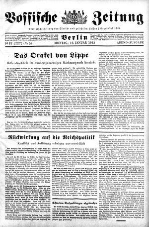 Vossische Zeitung vom 16.01.1933