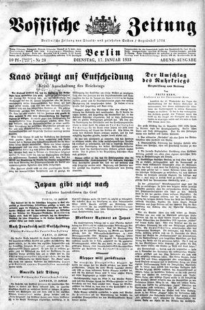 Vossische Zeitung vom 17.01.1933