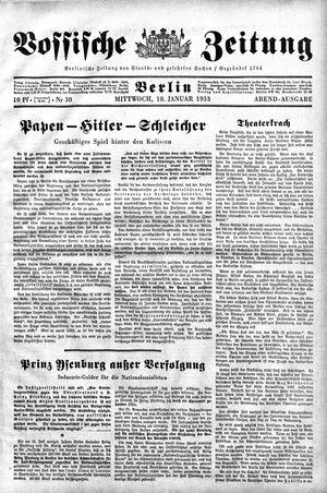 Vossische Zeitung vom 18.01.1933