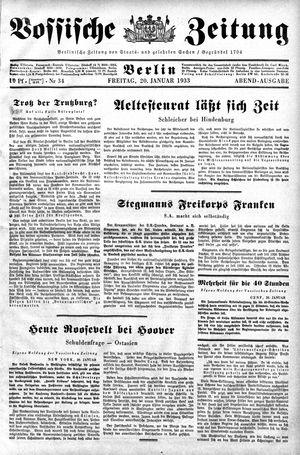 Vossische Zeitung vom 20.01.1933
