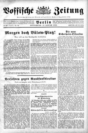 Vossische Zeitung vom 21.01.1933