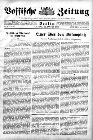 Vossische Zeitung on Jan 22, 1933