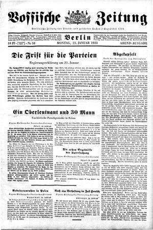 Vossische Zeitung vom 23.01.1933