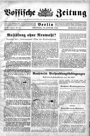 Vossische Zeitung vom 24.01.1933