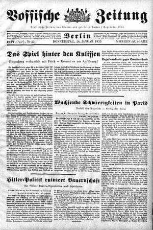 Vossische Zeitung vom 26.01.1933