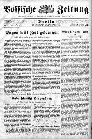 Vossische Zeitung vom 28.01.1933