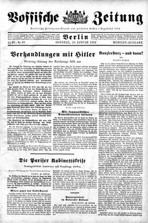 Vossische Zeitung vom 29.01.1933