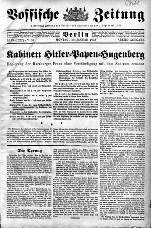 Vossische Zeitung vom 30.01.1933