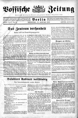 Vossische Zeitung vom 31.01.1933