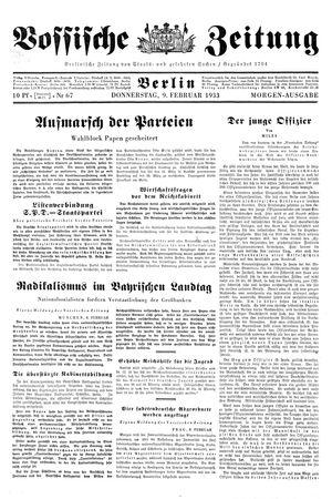 Vossische Zeitung vom 09.02.1933