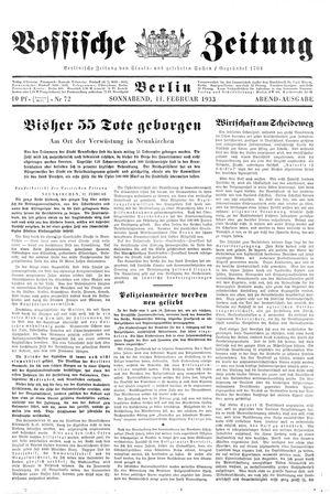 Vossische Zeitung vom 11.02.1933