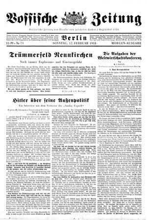Vossische Zeitung vom 12.02.1933