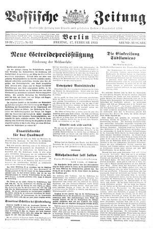 Vossische Zeitung vom 17.02.1933
