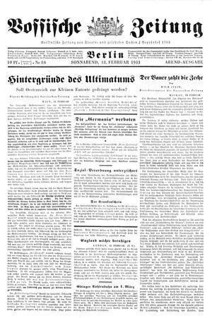 Vossische Zeitung vom 18.02.1933