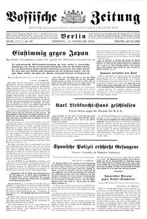 Vossische Zeitung on Feb 24, 1933
