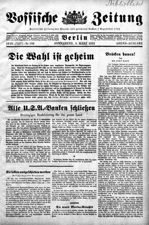 Vossische Zeitung vom 04.03.1933