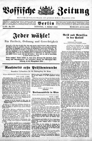 Vossische Zeitung vom 05.03.1933