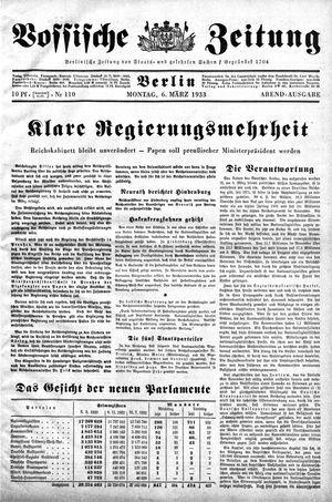 Vossische Zeitung vom 06.03.1933