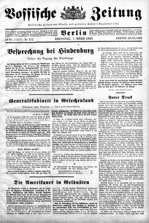 Vossische Zeitung vom 07.03.1933