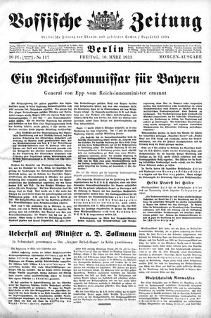 Vossische Zeitung vom 10.03.1933
