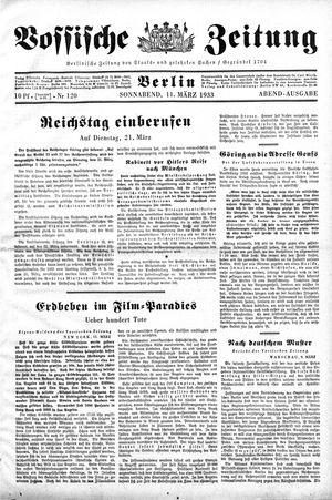 Vossische Zeitung vom 11.03.1933
