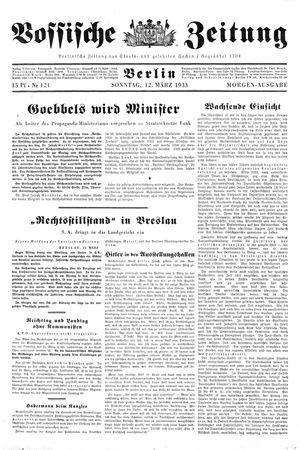 Vossische Zeitung vom 12.03.1933