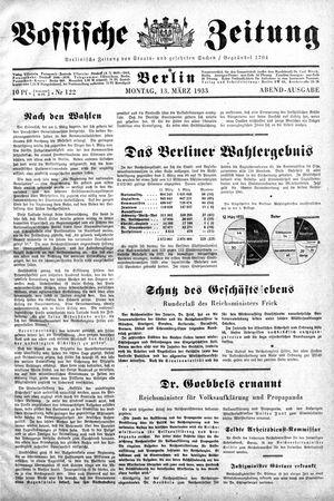 Vossische Zeitung vom 13.03.1933