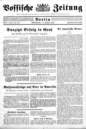 Vossische Zeitung vom 14.03.1933