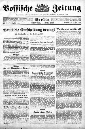 Vossische Zeitung vom 15.03.1933