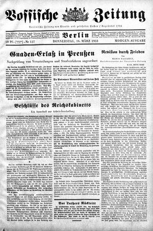 Vossische Zeitung on Mar 16, 1933