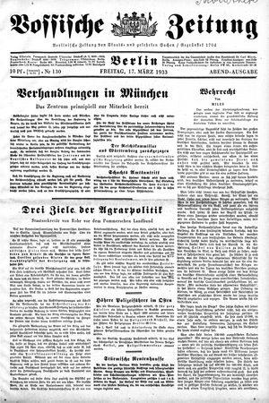 Vossische Zeitung vom 17.03.1933