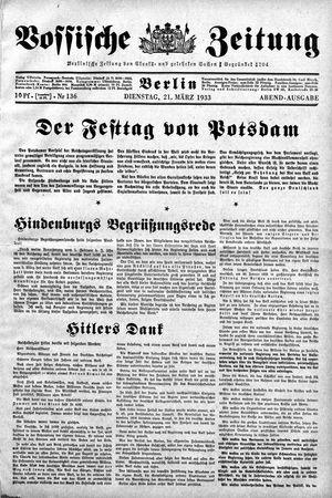 Vossische Zeitung vom 21.03.1933