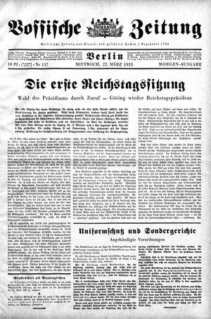 Vossische Zeitung vom 22.03.1933
